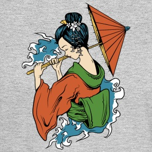 Japanese_geisha_with_umbrella - Men's Long Sleeve T-Shirt