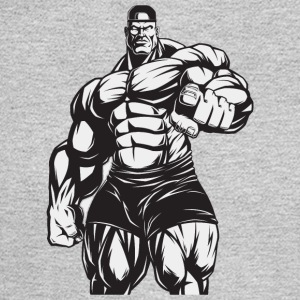 Strongman bodybuilder muscles shape vector art fun - Men's Long Sleeve T-Shirt