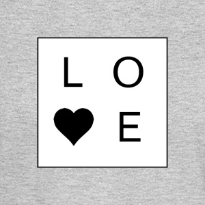 Love - Stacked Box w/ A Heart (Black Letters) - Men's Long Sleeve T-Shirt