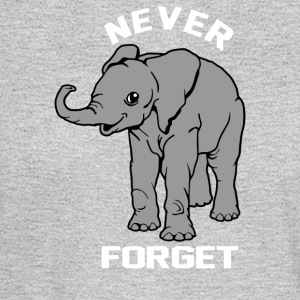 Baby Elephant Never Forgets - Men's Long Sleeve T-Shirt