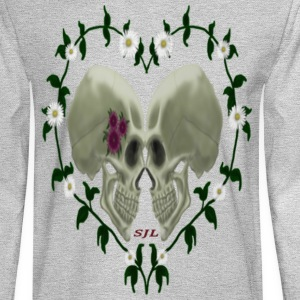 LOVE SKULLS DAISIES - Men's Long Sleeve T-Shirt