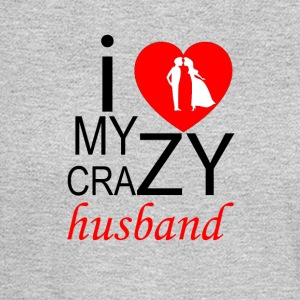 I Love My Crazy Husband - Couple - Men's Long Sleeve T-Shirt