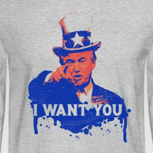 Donald Trump as Uncle Sam - Men's Long Sleeve T-Shirt