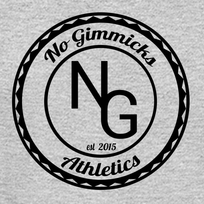 no gimmicks logo svart