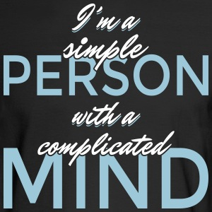 I'm a simple person with a complicated mind - Men's Long Sleeve T-Shirt