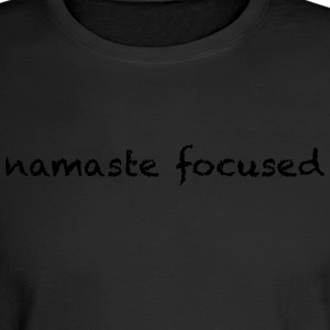 namaste focused pick a color - Men's Long Sleeve T-Shirt