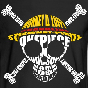 One_piece_logo_monogram_skull - Men's Long Sleeve T-Shirt