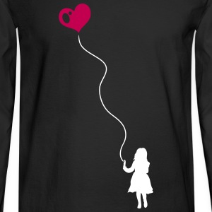 Child with heart balloon. - Men's Long Sleeve T-Shirt