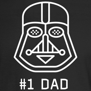 dad Father vader fatherday number One best Great f - Men's Long Sleeve T-Shirt