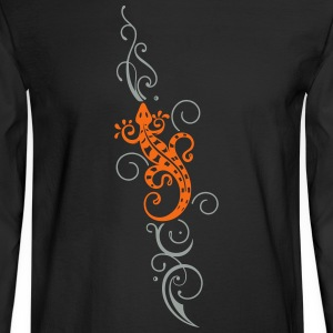 Lizard with Tribal, Tattoo - Men's Long Sleeve T-Shirt