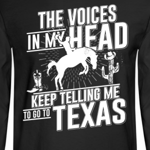 To go Texas Tshirt - Men's Long Sleeve T-Shirt