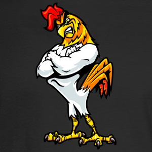 muscular_rooster_white - Men's Long Sleeve T-Shirt