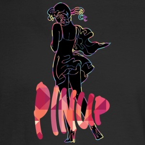 pinup_sexy_girl_black_color - Men's Long Sleeve T-Shirt