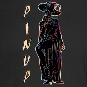 CLASSIC_PINUP_WOMAN_BLACK - Men's Long Sleeve T-Shirt