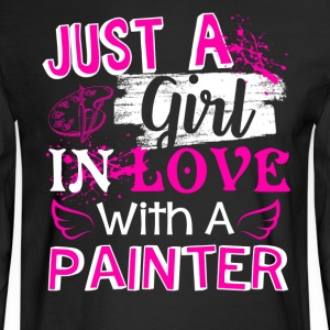 Girl In Love With A Painter Shirt - Men's Long Sleeve T-Shirt