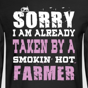 Smokin' Hot Farmer T Shirt - Men's Long Sleeve T-Shirt