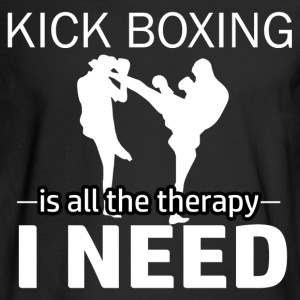 Kick Boxing is my therapy - Men's Long Sleeve T-Shirt