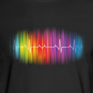 Gay Pride Heartbeat - Men's Long Sleeve T-Shirt
