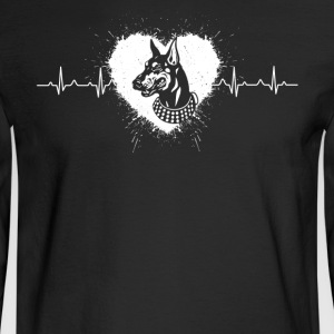 Doberman Pinscher Heartbeat Shirts - Men's Long Sleeve T-Shirt