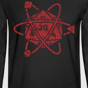 D20 Atom Dungeons apparel - Men's Long Sleeve T-Shirt
