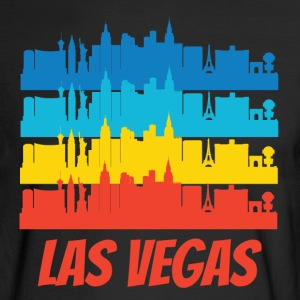 Retro Las Vegas NV Skyline Pop Art - Men's Long Sleeve T-Shirt