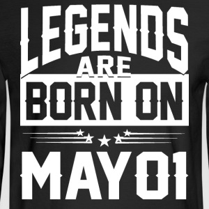 Legends are born on May 01 - Men's Long Sleeve T-Shirt
