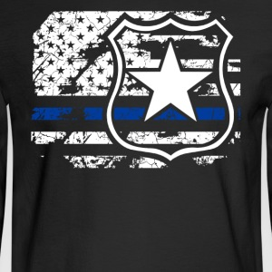 Police Flag Shirt - Men's Long Sleeve T-Shirt