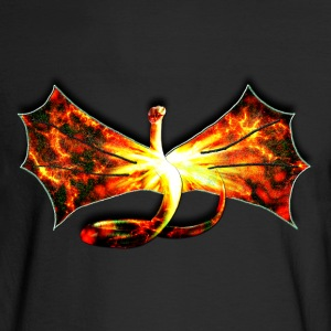 Flaming winged Serpent - Men's Long Sleeve T-Shirt