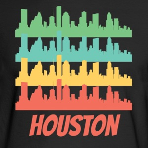 Retro Houston TX Skyline Pop Art - Men's Long Sleeve T-Shirt