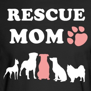 Rescue Dog Mom Shirt - Men's Long Sleeve T-Shirt