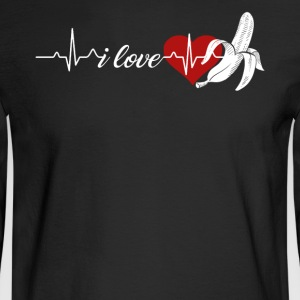 Banana Heartbeat Shirts - Men's Long Sleeve T-Shirt