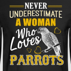 Woman Loves Parrots Shirt - Men's Long Sleeve T-Shirt