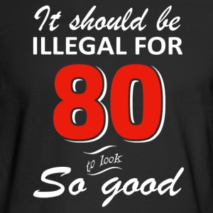 Funny 80th year old birthday designs - Men's Long Sleeve T-Shirt