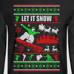 Snowboarding Chritmas Shirts - Men's Long Sleeve T-Shirt