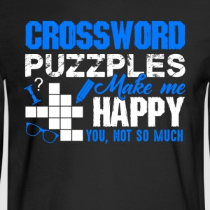 Crossword Puzzles Make Me Happy Shirt - Men's Long Sleeve T-Shirt
