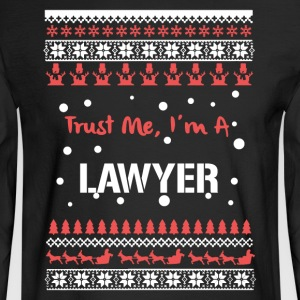 Lawyer Christmas Tshirt - Men's Long Sleeve T-Shirt