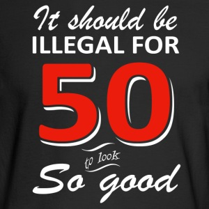 Funny 50th year old birthday designs - Men's Long Sleeve T-Shirt