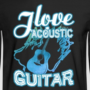 Love Acoustic Guitar Shirt - Men's Long Sleeve T-Shirt