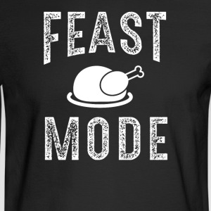 Feast Mode Funny Thanksgiving Beast TShirt - Men's Long Sleeve T-Shirt