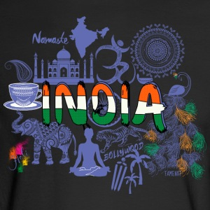 Welcome to India Purple T Shirt - Men's Long Sleeve T-Shirt