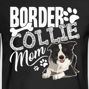 BORDER COLLIE MOM HEARTS SHIRT - Men's Long Sleeve T-Shirt