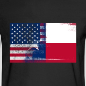 Texas American Flag Fusion - Men's Long Sleeve T-Shirt