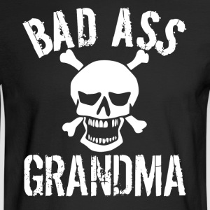 Bad Ass Grandma Skull Grandparents Day - Men's Long Sleeve T-Shirt