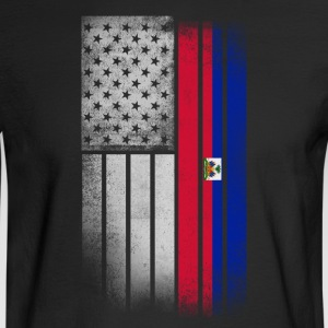 Haitian American Flag - Men's Long Sleeve T-Shirt