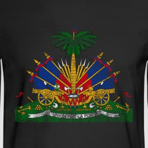Haitian Coat of Arms Haiti Symbol - Men's Long Sleeve T-Shirt