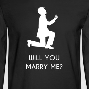 Marriage Propose to Girl - Men's Long Sleeve T-Shirt