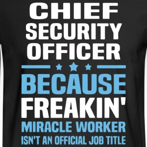 Chief Security Officer T Shirt - Men's Long Sleeve T-Shirt