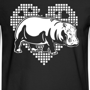 Hippo Heart Shirt - Men's Long Sleeve T-Shirt