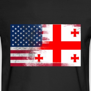 Georgia American Flag Fusion - Men's Long Sleeve T-Shirt