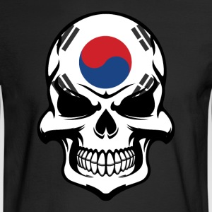 Korean Flag Skull Cool South Korea Skull - Men's Long Sleeve T-Shirt